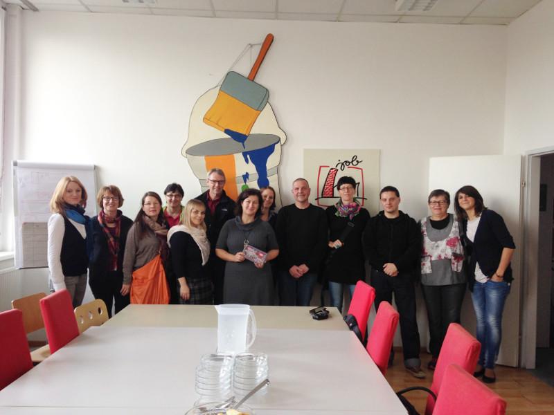 """Besuch der Produktionssuche """"Volkshilfe Jobfabrik"""""""