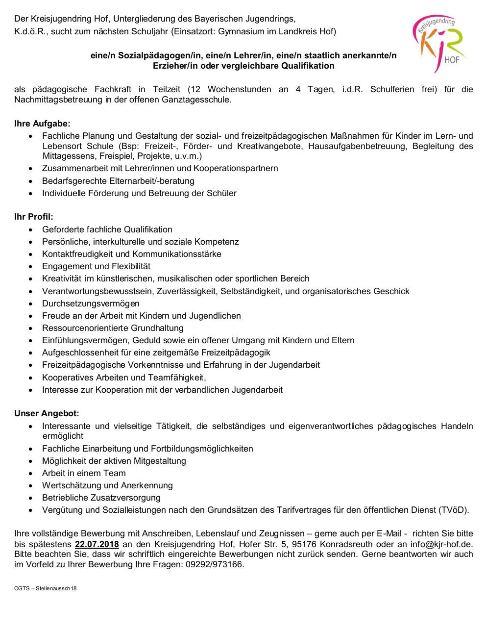 Arbeitsstellen und Praktikumsplätze - Fachakademie für ...