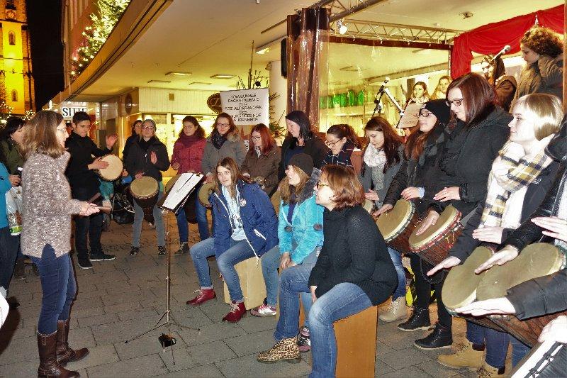 Auftritt auf dem Weihnachtsmarkt in Hof