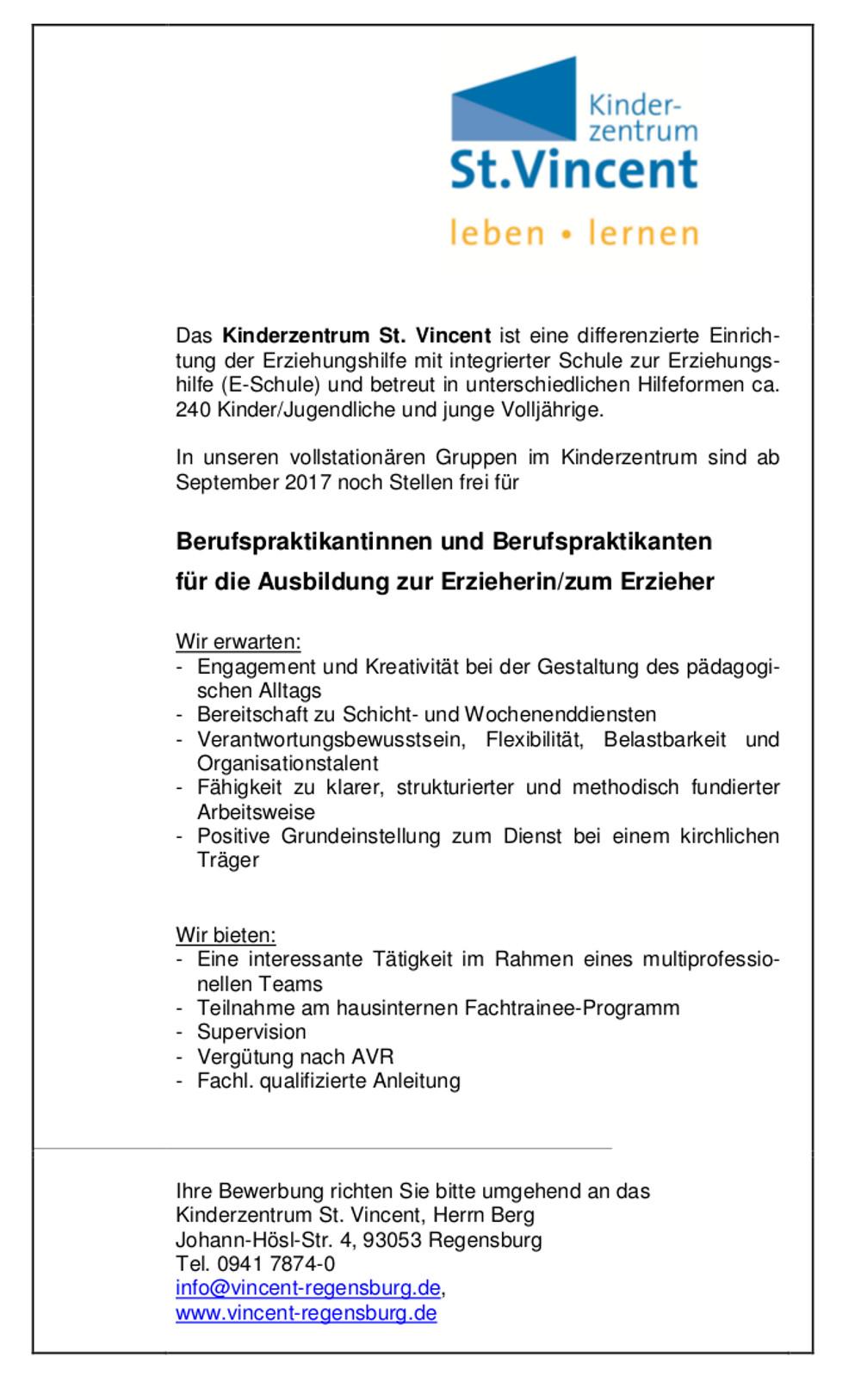 Regensburg - Fachakademie für Sozialpädagogik Ahornberg